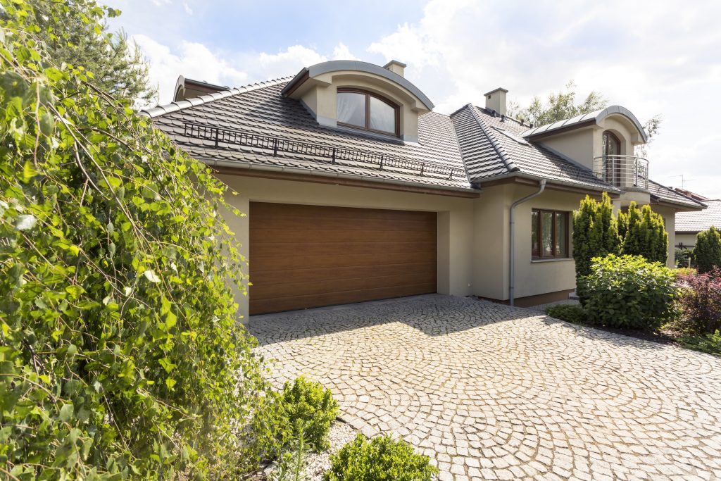 House with sandstone exterior colour